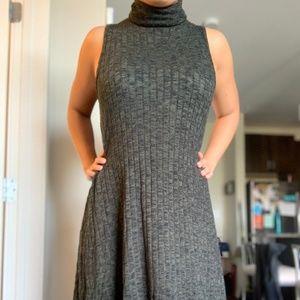 Turtle Neck Shift Sweater Dress
